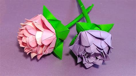 Origami rose  modular .Easy paper rose! Ideas for party ...