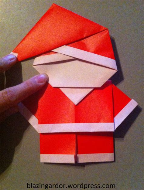 Origami Santa – How to guide | Blazing Ardor