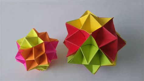 Origami Toys   How to make an Origami Spike Ball step by ...