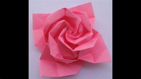 origami tutorial: Rose   YouTube