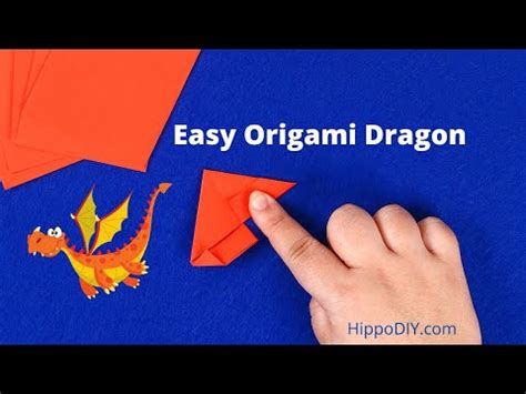 Origami tutorial video on how to fold a dragon