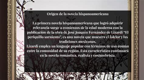 Origen de la novela hispanoamericana by Jessica Lorena ...