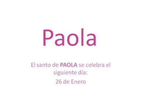 Origen y significado del nombre Paola   YouTube