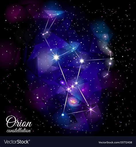 Orion constellation Royalty Free Vector Image   VectorStock