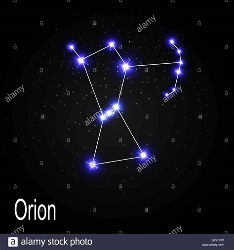 Orion Constellation with Beautiful Bright Stars on the ...