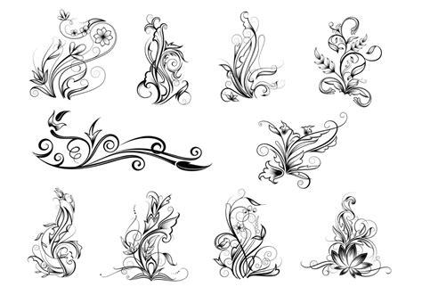Ornamental Swirl Vector Pack   Download Free Vectors ...