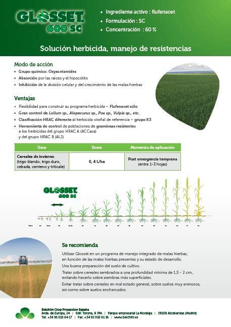 Os presentamos nuevos herbicidas para cereal!! – Agrícola ...