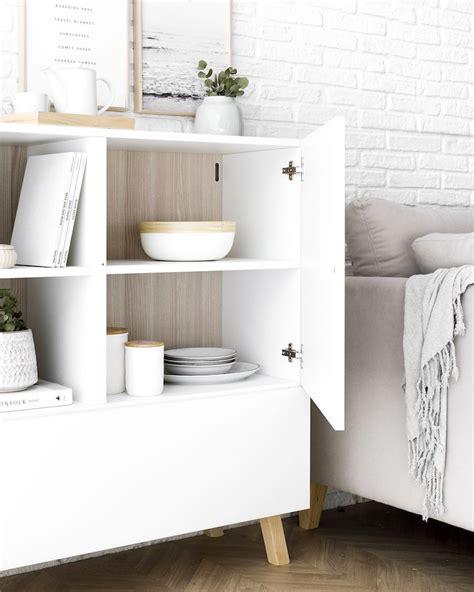 Oslo aparador blanco y madera | Aparador blanco, Kenay ...