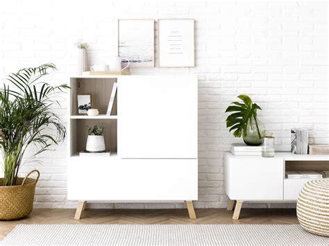 Oslo aparador branco e madeira en 2020 | Decoración hogar ...