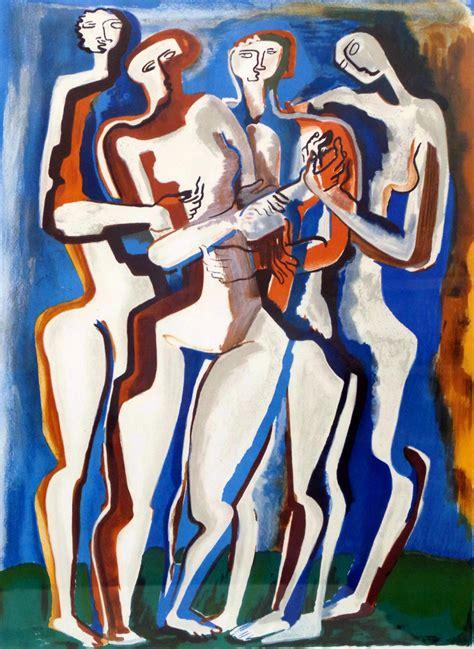 Ossip Zadkine Modern Art Lithograph in Colors | Modernism