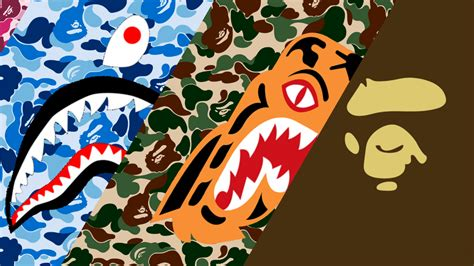 Out of boredom I made a bape wallpaper for my laptop ...