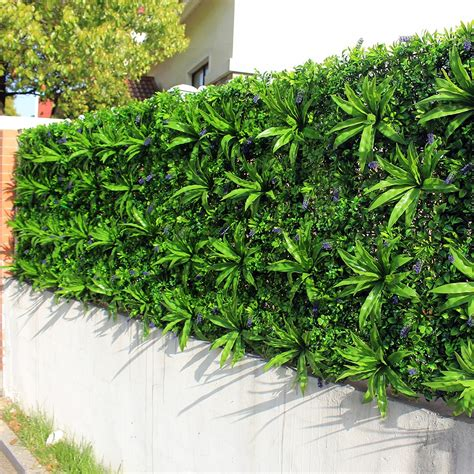 Outdoor Artificial Plant Walls Leaves Fence 1x1m UV Proof ...