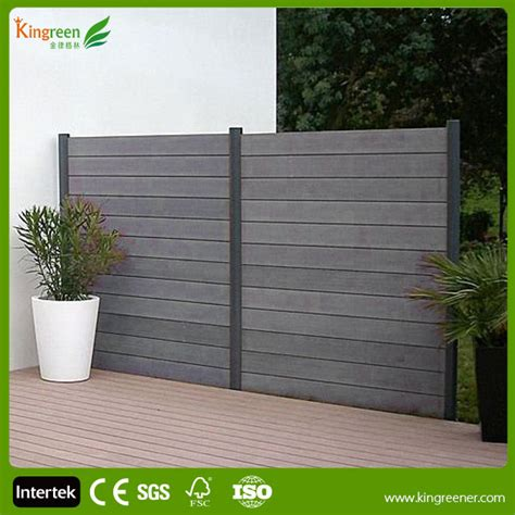 Outdoor Environmental Wpc Fence Plastic Slats And Fence ...