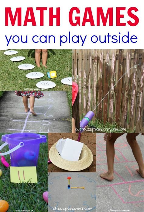 Outdoor Math Games for Kids | TpT Math Lessons | Math ...