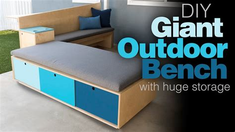 Outdoor Storage Bench / How To Build Patio Furniture ...