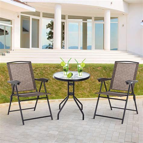 Outsunny Conjunto Mesa y 2 Sillas Muebles para Jardín ...