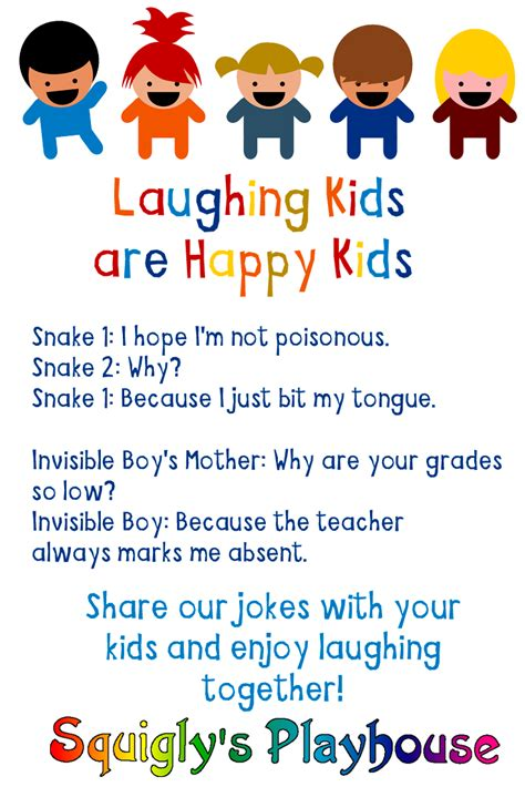 Over 300 Funny Jokes for Kids at Squigly s Playhouse