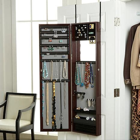 Over the Door Jewelry Armoire with Full Length Mirror ...