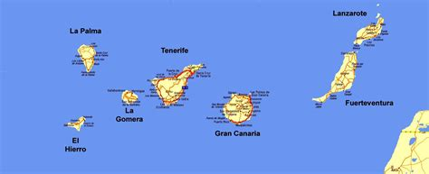 Overview Map of the Islas Canarias : Photos, Diagrams ...