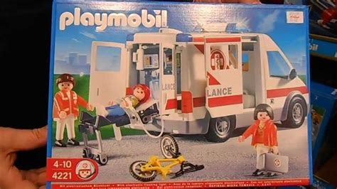 OVERVIEW OF GERMAN PLAYMOBIL SET 4221 AMBULANCE   YouTube