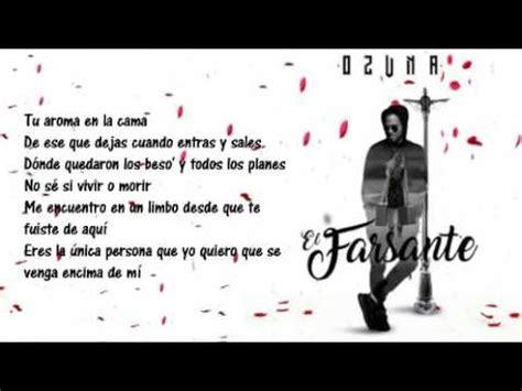Ozuna   EL FARSANTE  Letra    YouTube