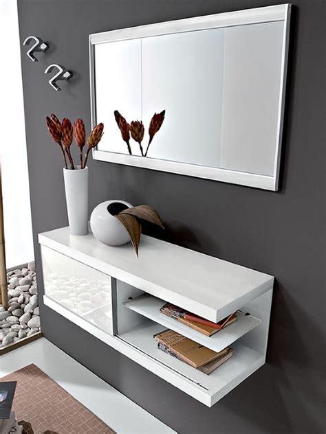 PA243   Mueble de entrada con espejo y percheros ...