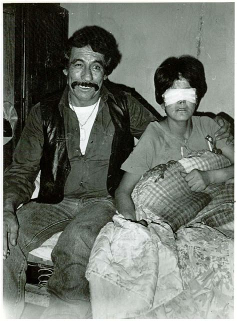 Pablo Acosta with a blind girl. He paid for the surgery in ...