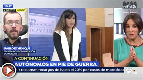 Pablo Echenique insulta a los periodistas de  Espejo ...