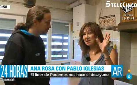 Pablo Iglesias le enseña su casa Ana Rosa Quintana   aMENzing