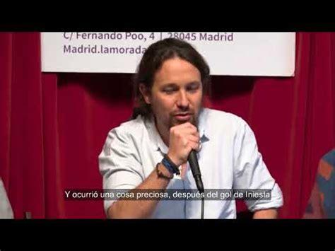 """Pablo Iglesias: """"Español es quien vive y trabaja aquí ..."""