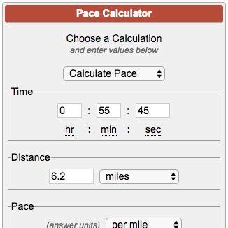 Pace per mile calculator