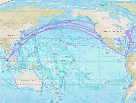 Pacific Ocean major ports map