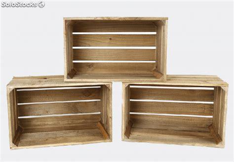 Pack 3 cajas de madera envejecida grandes