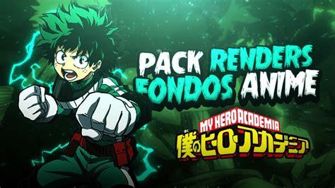PACK DE RENDERS Y FONDOS ANIME  ANDROID Y PC  BOKU NO HERO ...
