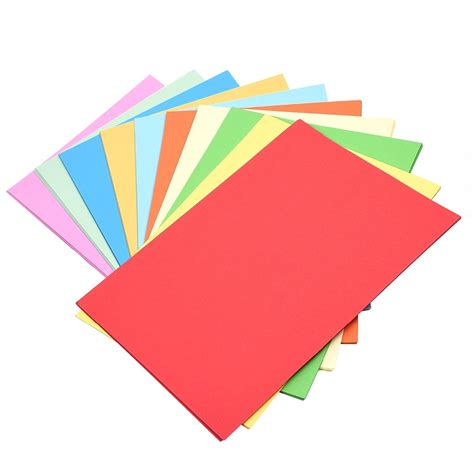 Pack of 100 Sheets, Assorted Color A4 size Origami Craft ...