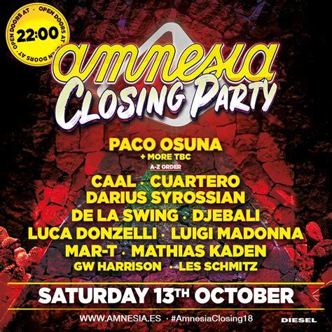 Paco Osuna   Live at Amnesia Closing Party  Ibiza    13 ...