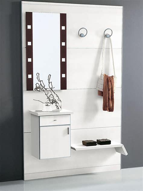PAD351: Mueble de entrada con espejo y percheros   Sediarreda