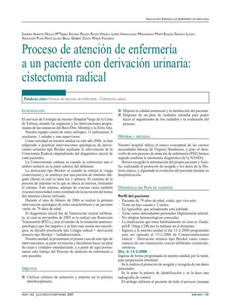 Pae en Paciente Con Cistectomia Radical