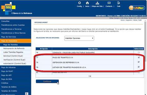 Pago de impuestos por Uninet de Banco Unión   Bolivia ...