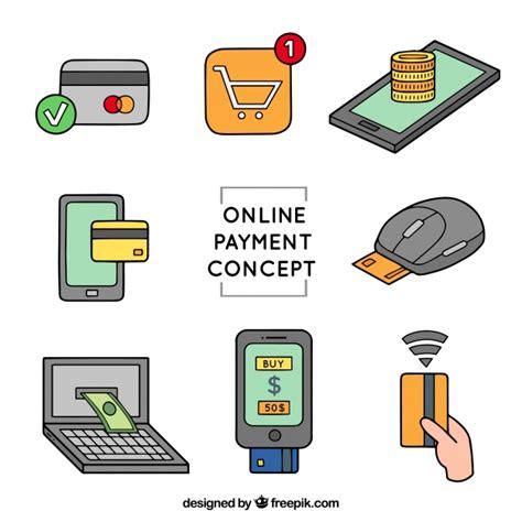 Pago online, conjunto | Vector Gratis