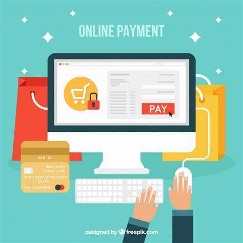 Pago online, estilo flat | Descargar Vectores gratis