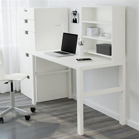 PÅHL Escritorio con estantería   blanco   IKEA