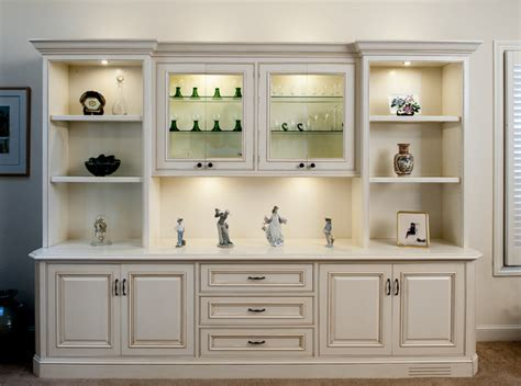 Painted and Glazed Display Cabinet   Traditional   Living ...