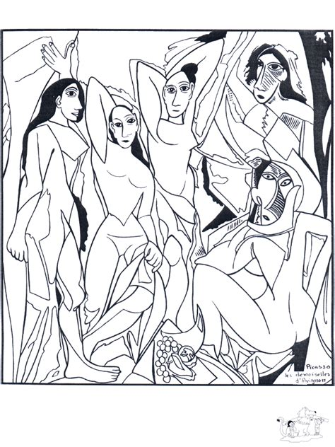 Painter Picasso   Art coloring pages