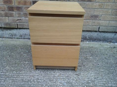 Pair of Ikea light wooden chest of 2 drawers | in ...
