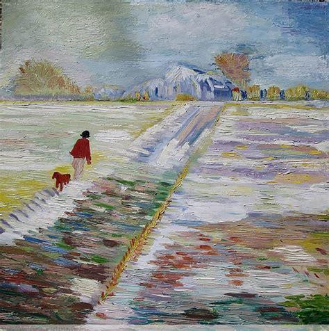 Paisaje con nieve   Copia Van Gogh Concha Rosado Farelo ...