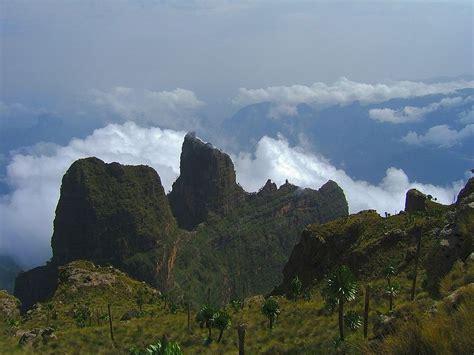 Paisaje de las Montañas Semien en Kenia