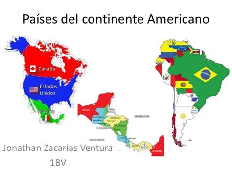 Países del continente americano jzv