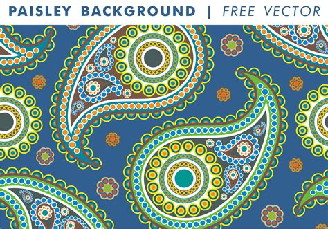 Paisley Background Vol. 2 Free Vector   Download Free ...