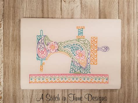 PAISLEY SEWING MACHINE FOR 6x10 HOOP | A Stitch in Time ...